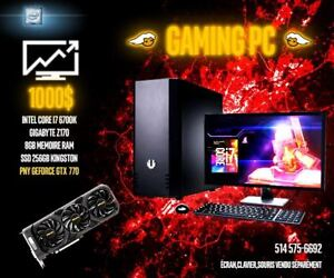GAMING PC ÉLITE I7 6700K  GTX-770 Gigabyte Z170 8Gb ram