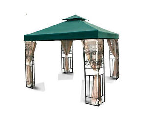 Replacement Canopy Top 10x10' Patio Pavilion Gazebo Sunshade Polyester Cover