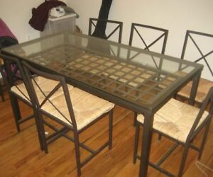 Great Glass Dining Table/Chairs