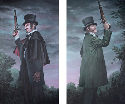 ansion Dueling Ghosts Painting Prop Replica Prints (Haunted Prop)