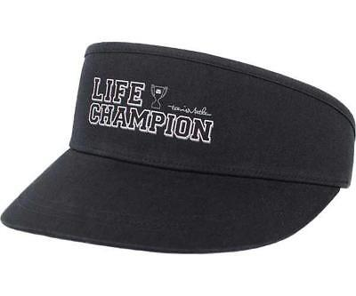 7bca152ad05f1 New Travis Mathew Visor Hat The Lifer model one size fits all golf Black  strap