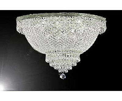 Crystal Semi Flush Chandelier (French Empire Crystal Semi Flush Basket Chandelier Lighting H18