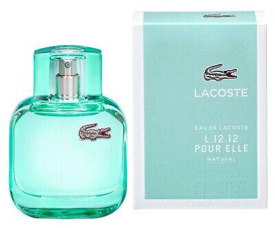 EAU DE LACOSTE L.12.12 POUR ELLE NATURAL * Lacoste 1.6 oz EDT Women Perfume