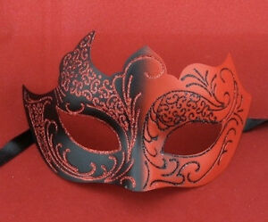 Red-Black-Venetian-Style-Masquerade-Mask-Halloween-Devil-Female-Masked-Ball