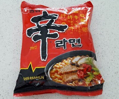 1Pack Korean NongShim Instant Noodle Hot Spicy Flavor Shin Ramyun Ramen Mukbang