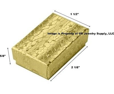 200 Small Gold Cotton Filled Jewelry Gift Boxes 2 18 X 1 12 X 58