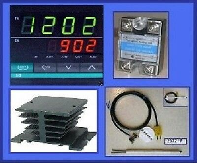 Ramp Soak Temperature Controller Kiln SSR Thermocouple Programmable Control 1/16