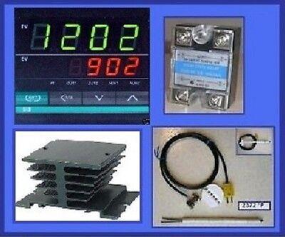 Ramp Soak Temperature Controller Kiln Ssr Thermocouple Programmable Control 116