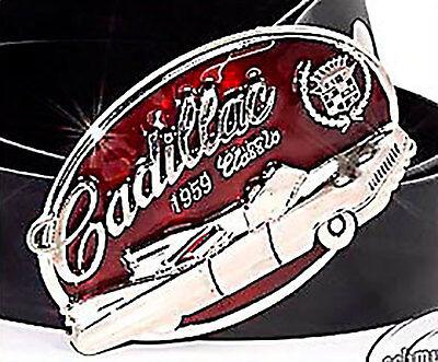 Gürtelschnalle,CADILLAC BUCKLE USA,OLDTIMER 1959 Gürtel,BUCKLE NEU,1C62f