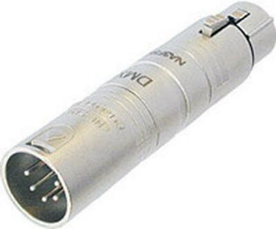 Neutrik NA3F5M DMX 3-Pin to 5-Pin XLR Lighting (3 Pin To 5 Pin Dmx Adapter)