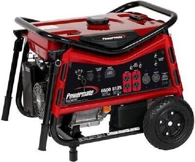 Powermate Pc0106507 Portable Generator 6500 Watt 420cc Ohv Engine