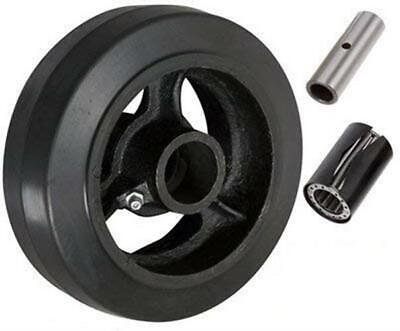 Casterhq - 6 X 2 Rubber On Cast Iron Wheel - 500 Lbs Capacity