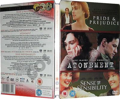 Pride and Prejudice Atonement Sense & Sensibility Romantic films Collection DVD