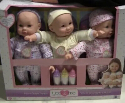 TRIPLETs CUSSIN' BABY DOLLS You & Me Interactive Play & Giggle TOYS R US RECALL