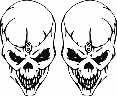 RC airbrush stencils/ paint masks Evil skull set (SINGLE USE ONLY)