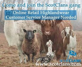 Online Retail Customer Service Manager - Highlandwear