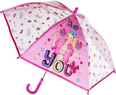 Jojo Siwa Bögen (Offiziell Jo Jo Siwa Bogen Pink Durchsichtig Kuppelform Regenschirm Brolly)