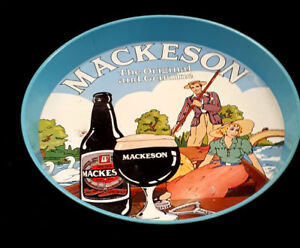 Vintage 1960's Mackeson Stout Beer Lithographed Bar Tray