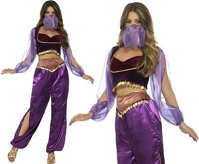 Ladies Arabian Princess Fancy Dress Costume Jasmine Outfit Belly Dancer Smiffys  - Arabian Outfits Ladies