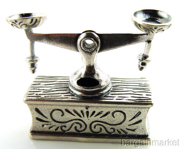 Miniature Vintage Style Sterling Silver Balance Scale #509