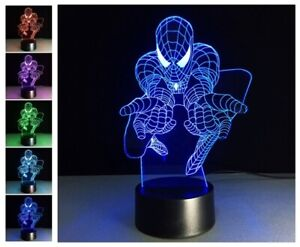 Spiderman 3D color changing lamp 100% NEW