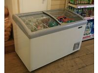 DISPLAY CHEST FREEZER WITH SLIDING GLASS LID