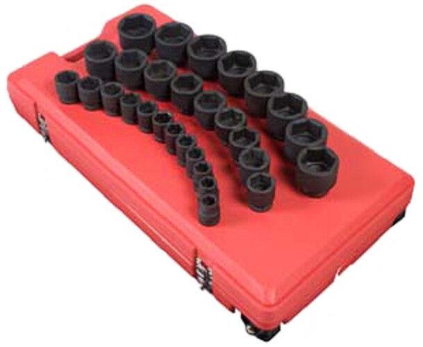 Sunex 4696 3/4 Drive 29 Piece SAE Shallow Impact Socket Set