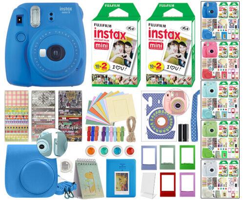 Fuji Instax Mini 9 Fujifilm Instant Camera All Colors + 40 F