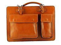 Tan briefcase