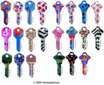22 Uncut Designer Blanks Kw1 For Your Key Machine