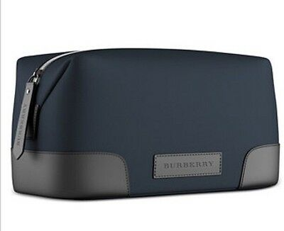 Burberry Fragrances Makeup Cosmetic Case DARK NAVY Pouch Dopp Kit  EXTRA LARGE