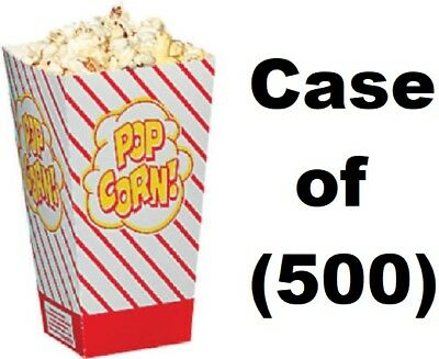 500 Ct Gold Medal Products 2066 .8 Oz Bright Red Orange Popcorn Scoop Boxes
