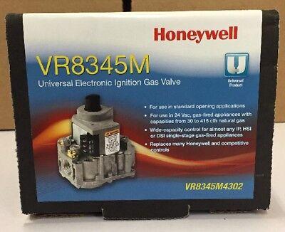 Honeywell Universal Electronic Ignition Gas Valve Vr8345m4302