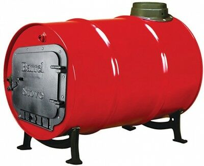 Barrel Stove Kit 30-55 Gallon Drums Cast Iron Outdoor Rustic Cabi Pole Barn 55 Gallon Barrel Stove