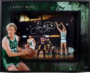 Larry Bird autographed Shadow Box Upperdeck