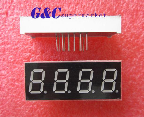 2PCS 0.56 inch 4 digit led display 7 seg segment Common cathode -Red