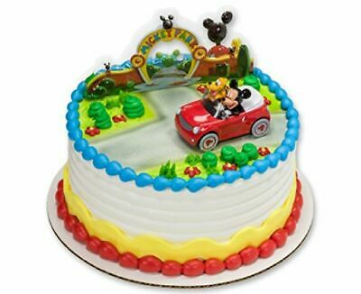 Mickey Mouse Cake Decorations (MICKEY MOUSE AND FRIENDS - PLUTO CAR DECOPAC DECOSET CAKE TOPPER)