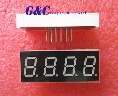 2pcs 0.56 Inch 4 Digit Led Display 7 Segment Common Cathode -red