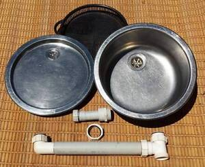 Round S/Steel Sink, Drainer & Basket. Maleny Caloundra Area Preview
