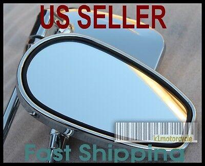 Pair Chrome Mirrors - Yamaha XS360 400 500 550 650 700 750 850 1100 Maxim Bobber