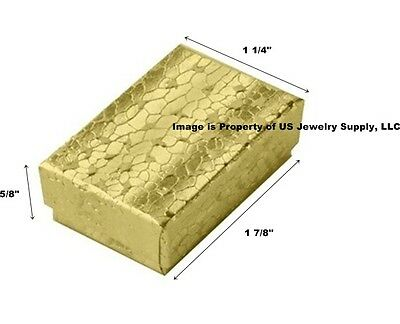 Wholesale 500 Small Gold Cotton Fill Jewelry Gift Boxes 1 78 X 1 14 X 58