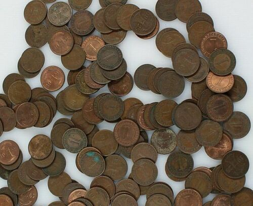 MUST SELL 1000+ UNSEARCHED WEIMER & NAZI BRONZE PFENNIGS! $5-$10 EACH EVERYWHERE