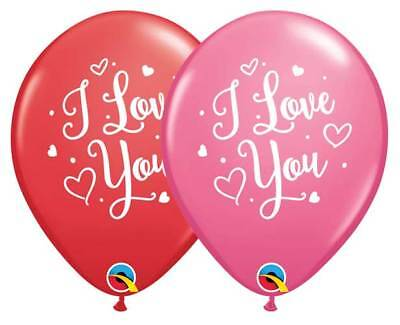 I Love You Latex Balloons, Valentine Script Party Decor Birthday Sweetest Day - I Love You Decorations