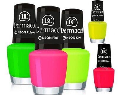 Nagellack nail-polish DERMACOL NEON Farbe Glow In The Dark Leuchtet UV REACTIVE