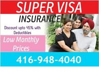 Super Visa Insurance at low monthly prices  :416-948-4040