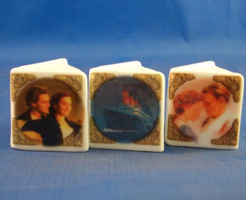 Birchcroft Thimbles -- Miniature Book Style  -- Set of 3 Titanic Movie