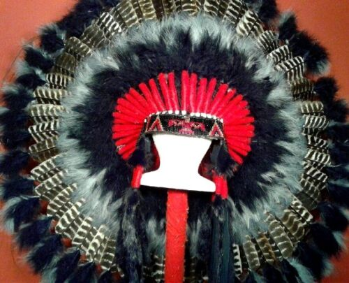 Native American Mystic Eagle War Bonnet Feather Headdress