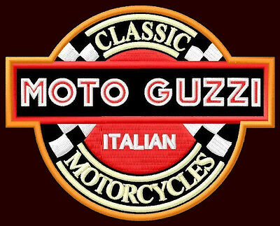 "MOTO GUZZI EMBROIDERED PATCH ~4-1/2"" x 3-1/2"" MOTORCYCLE CALIFORNIA LE MANS V2"