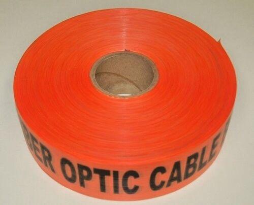 """Caution Fiber Optic Cable Buried Below"" Orange 3""x1000"