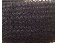 Black decorative stretch elastic with a slight shine